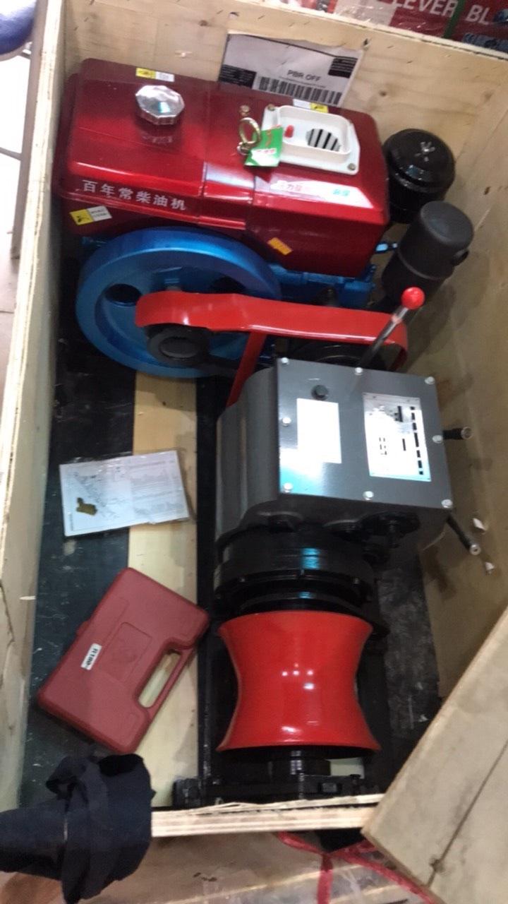 Tời Kéo Cáp Động Cơ Dầu Diesel JM80